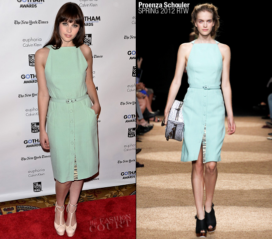 Felicity Jones in Proenza Schouler | IFP's 21st Annual Gotham Independent Film Awards