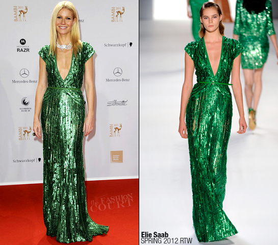 Gwyneth Paltrow in Elie Saab | 2011 Bambi Awards