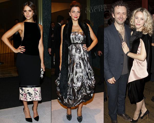 Jessica Alba, Maggie Gyllenhaal & Rachel McAdams in Armani