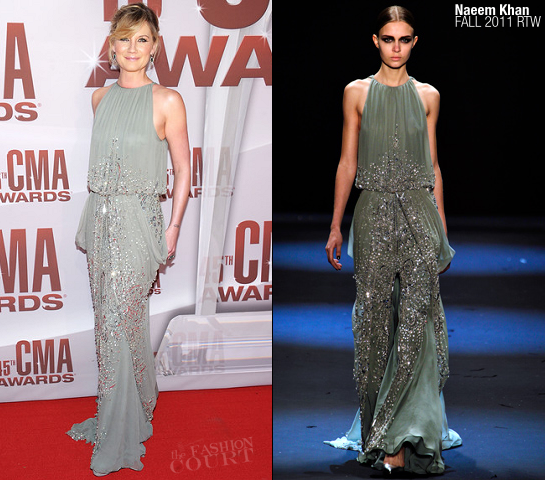 Jennifer Nettles in Naeem Khan | 45th Annual CMA Awards