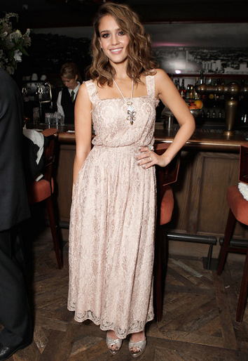 Jessica Alba in Dolce & Gabbana | Swarovski Elements Private Holiday Dinner
