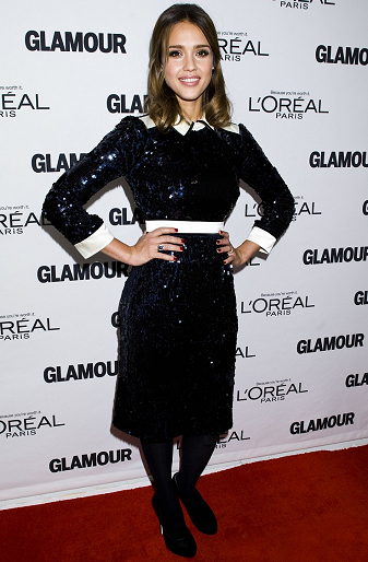 Jessica Alba in Tory Burch | 2011 Glamour Women Of The Year Awards