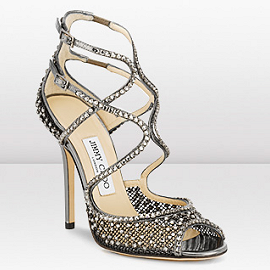 Jimmy Choo FALCON Crystal Mesh Sandals