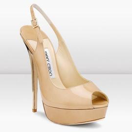 Jimmy Choo VITA Slingback Platform Sandal with Mirrored Gold Heel