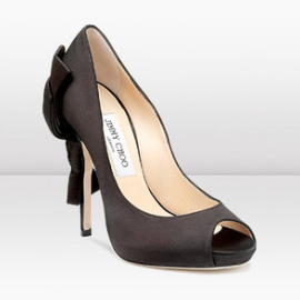 Jimmy Choo Zodiac Bow-Detailed Peep-Toe Pumps