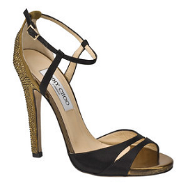 Jimmy Choo Swarovski Crystal Ankle Strap Sandals