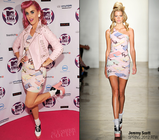 Katy Perry in Jeremy Scott | MTV Europe Music Awards 2011
