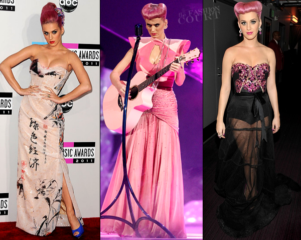 Katy Perry in Vivienne Westwood, Johnny Wujek & Furne One | 2011 American Music Awards