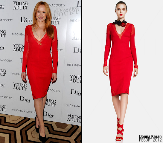 Kaylee DeFer in Donna Karan | 'Young Adult' NY Screening