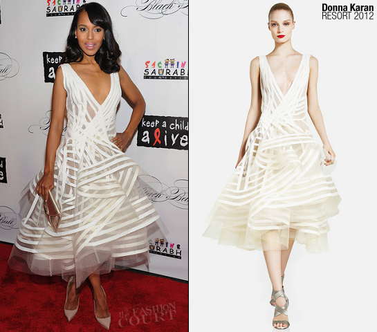 Kerry Washington in Donna Karan | 8th Annual Keep A Child Alive Black Ball
