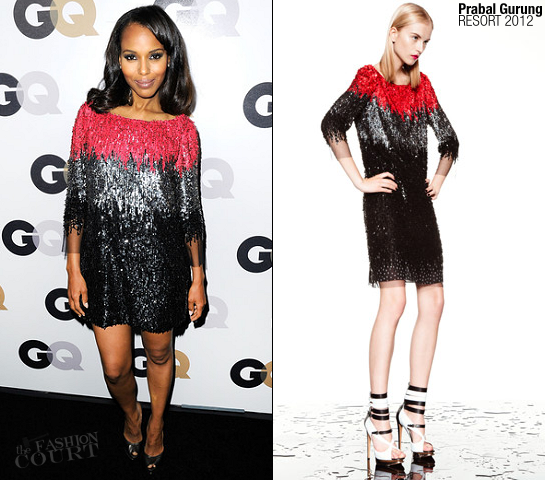 Kerry Washington in Prabal Gurung | 16th Annual GQ Men Of The Year Party