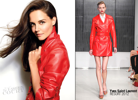 Katie Holmes in Yves Saint Laurent | Marie Claire, November 2011