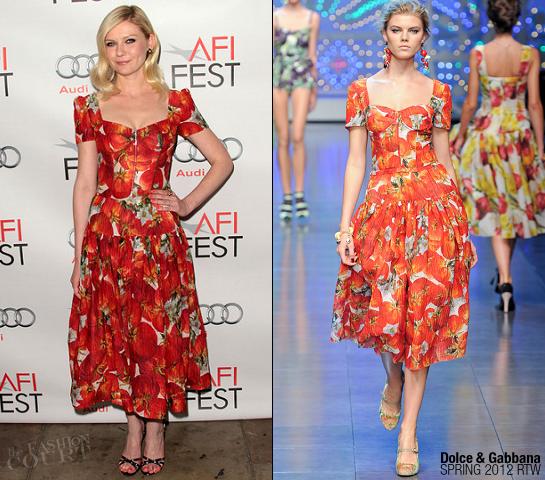 Kirsten Dunst in Dolce & Gabbana | AFI FEST 2011 Premiere - 'Melancholia'