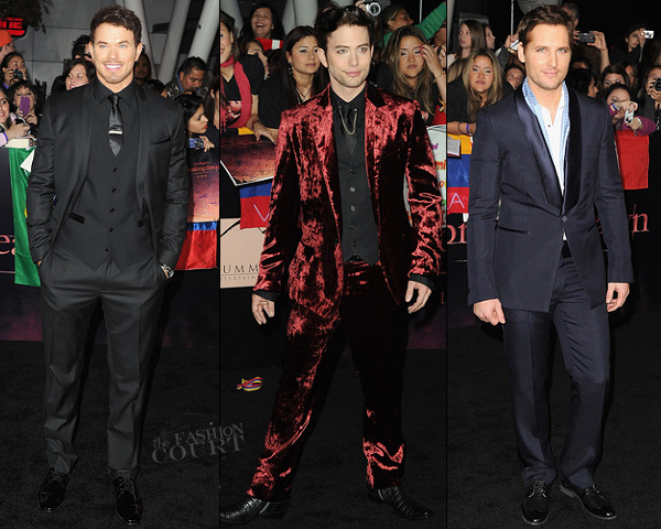 "Kellan Lutz, Jackson Rathbone & Peter Facinelli | ""The Twilight Saga: Breaking Dawn - Part 1"" LA Premiere"
