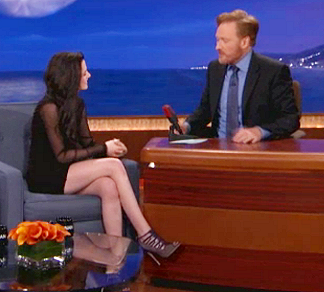 Kristen Stewart in Brian Atwood | 'CONAN'