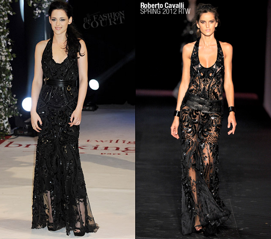 Kristen Stewart in Roberto Cavalli | 'The Twilight Saga: Breaking Dawn - Part 1' London Premiere