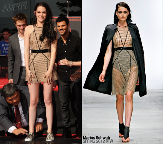 Kristen Stewart in Marios Schwab | Grauman's Chinese Theatre Hand and Footprint Ceremony