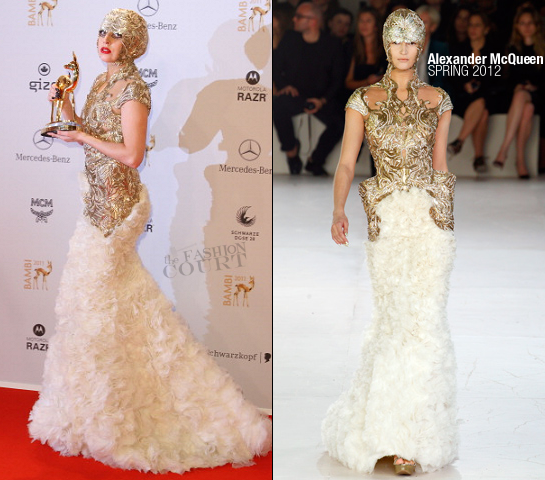 Lady Gaga in Alexander McQueen | 2011 Bambi Awards