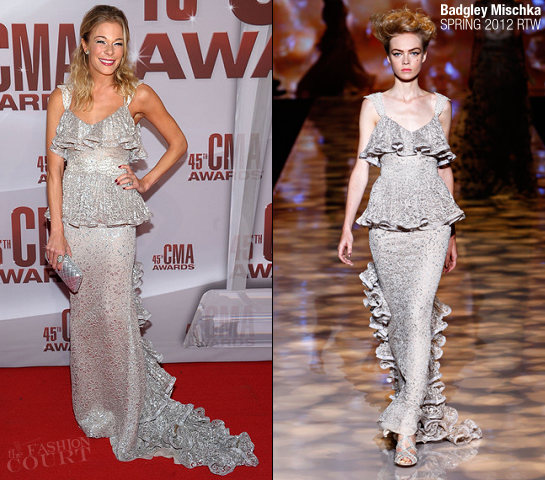 LeAnn Rimes in Badgley Mischka | 45th Annual CMA Awards