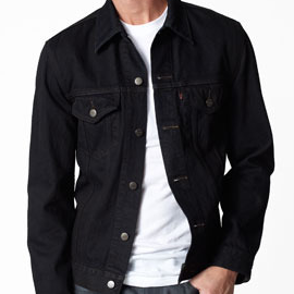 Levi's Black Oil Trucker Jacket