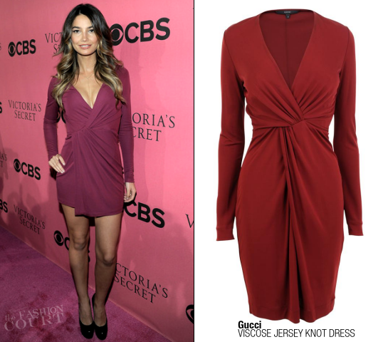 Lily Aldridge in Gucci | Victoria's Secret Fashion Show Viewing Party