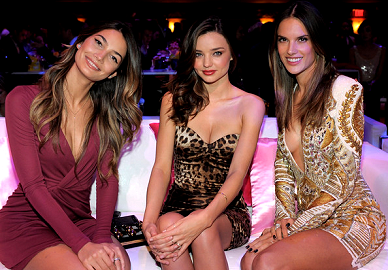Lily Aldridge, Miranda Kerr & Alessandra Ambrosio | Victoria's Secret Fashion Show Viewing Party