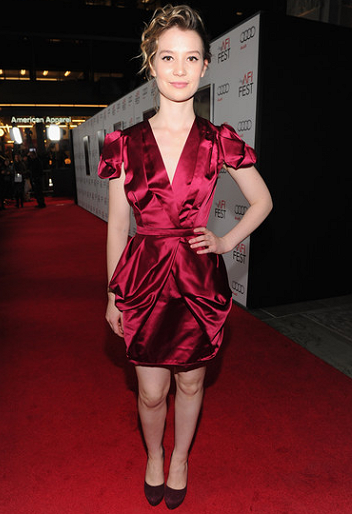 Mia Wasikowska in Miu Miu | 2011 AFI FEST Premiere - 'Shame'