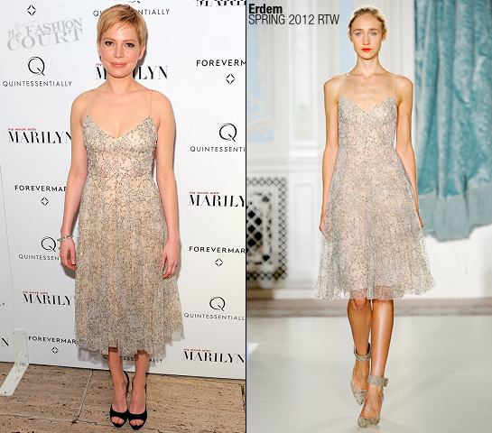 Michelle Williams in Erdem | 'My Week With Marilyn' NY Premiere
