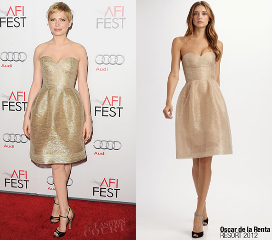 Michelle Williams in Oscar de la Renta | AFI FEST 2011 Premiere - 'My Week With Marilyn'