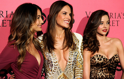 Lily Aldridge, Alessandra Ambrosio & Miranda Kerr | Victoria's Secret Fashion Show Viewing Party