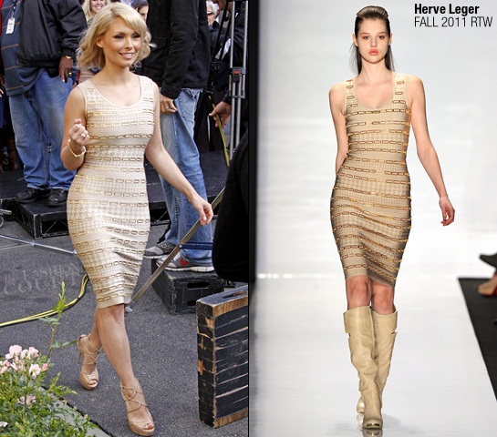 MyAnna Buring in Herve Leger | 'Extra' Interview