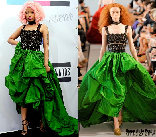 Nicki Minaj in Oscar de la Renta | 2011 American Music Awards