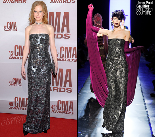 Nicole Kidman in Jean Paul Gaultier | 45th Annual CMA Awards