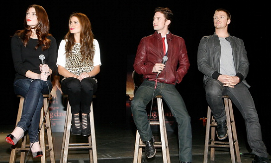 "Ashley Greene, Nikki Reed, Jackson Rathbone & Charlie Bewley | ""The Twilight Saga: Breaking Dawn – Part 1"" Tour – Dallas"