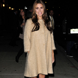 Nikki Reed in Versace & Philosophy di Alberta Ferretti | 'The Late Show with David Letterman'