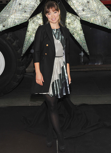 Olivia Wilde in Christian Cota | Rockefeller Center 2011 Swarovski Star Unveiling