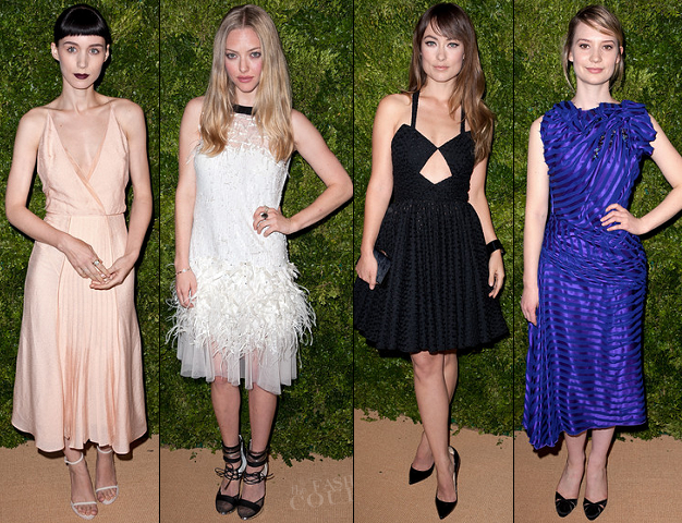 Rooney Mara, Amanda Seyfried, Olivia Wilde, Mia Wasikowska | 8th Annual CFDA/Vogue Fashion Fund Awards