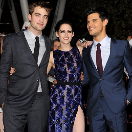 "Robert Pattinson, Kristen Stewart & Taylor Lautner | ""The Twilight Saga: Breaking Dawn - Part 1"" LA Premeire"