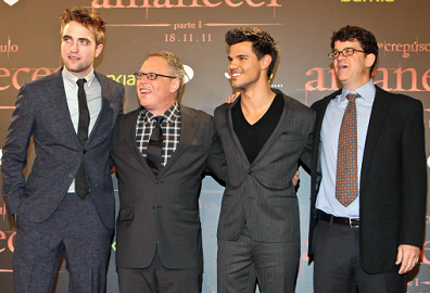 Robert Pattinson, Bill Condon, Taylor Lautner & Wyck Godfrey | 'The Twilight Saga: Breaking Dawn - Part 1' Barcelona Premiere