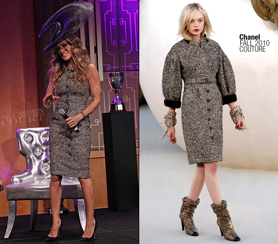 Sarah Jessica Parker in Chanel | VRC Oaks Club Ladies Luncheon