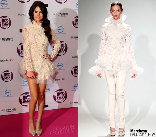 Selena Gomez in Marchesa | MTV Europe Music Awards 2011