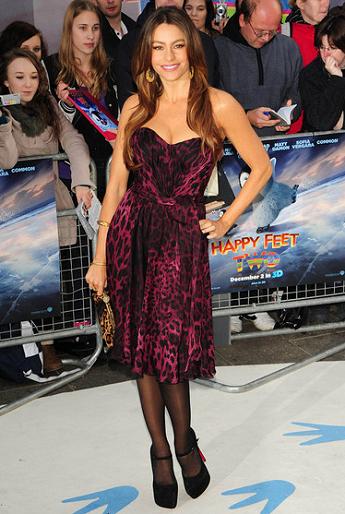 Sofia Vergara in Dolce & Gabbana | 'Happy Feet 2' London Premiere