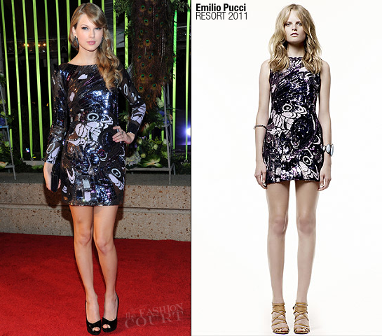 Taylor Swift in Emilio Pucci | 59th Annual BMI Country Awards
