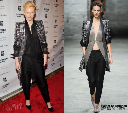 Tilda Swinton in Haider Ackermann | IFP's 21st Annual Gotham Independent Film Awards