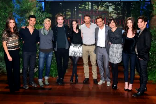 The Cast of BREAKING DAWN on 'The Ellen Show'