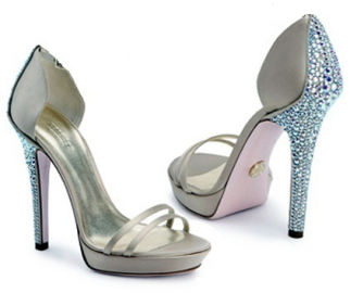 Versace Crystal Encrusted D'Orsay Satin Sandals