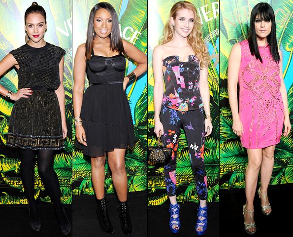 Jessica Alba, Jennifer Hudson, Emma Roberts & Selma Blair | Versace for H&M Fashion Show