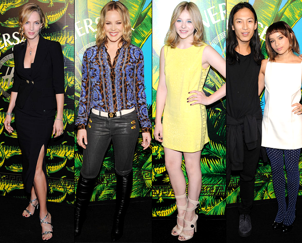 Uma Thurman, Abbie Cornish, Chloe Moretz, Alexander Wang & Zoe Kravitz | Versace for H&M Fashion Show