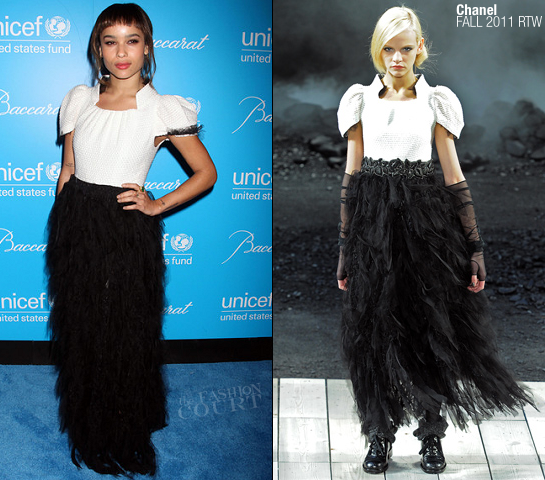 Zoe Kravitz in Chanel | 2011 UNICEF Snowflake Ball