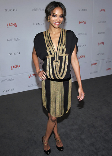Zoe Saldana in Gucci | LACMA Art + Film Gala presented by Gucci